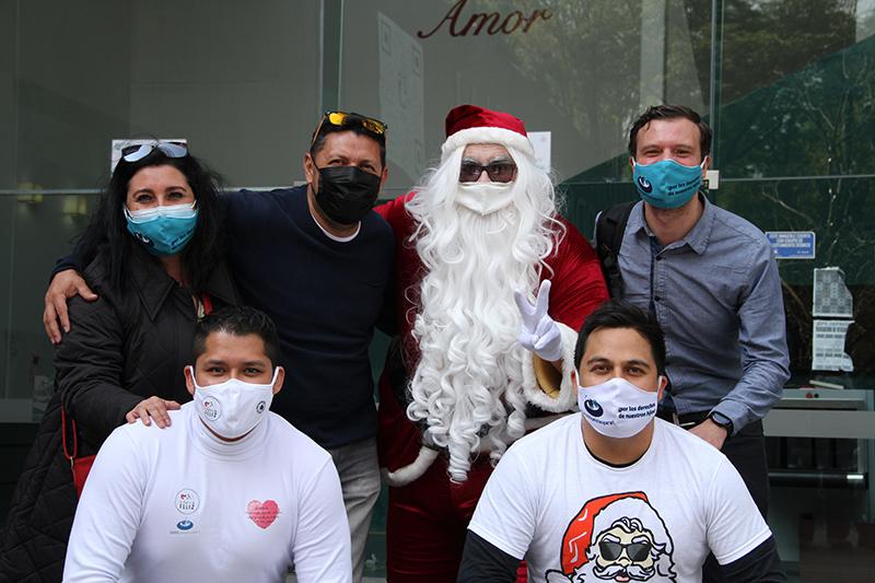 Acción navideña con Santa Ho Ho Ho.